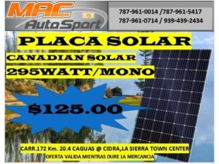 PLACA SOLAR CANADIAN SOLAR 295 WATT, Mf motor import Puerto Rico