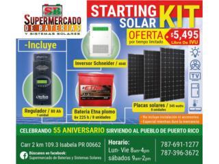Solar Starting Kit 5495, Supermercado de Baterias y Sistemas Solares Puerto Rico