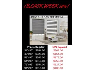 Duo Shade Premium 50%, Readymade-Shades Puerto Rico
