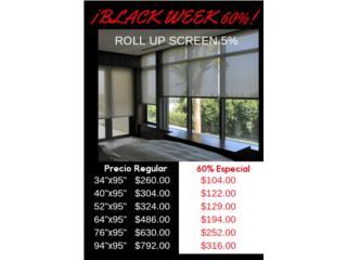 Roll Up Screen 60%, Readymade-Shades Puerto Rico