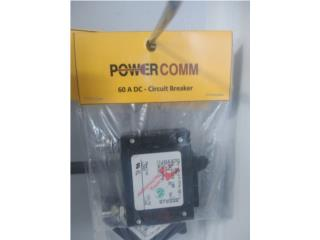 DC breaker 60, 80, 100 amperes 125vdc, PowerComm, Inc 7873900191 Puerto Rico
