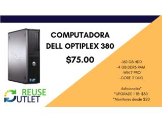 DELL OPTIPLEX 380 (160GBHDD-4GBDDR3-WIN7-DUO), Reuse Outlet Store Puerto Rico