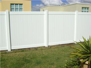 Verja PVC Modelo: Full-Privacy, Pro Fence Puerto Rico