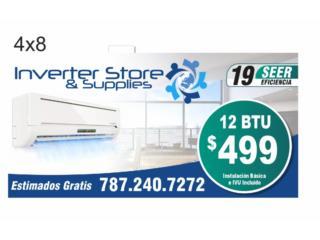 Consolas Inverter 12 BTU $499 7872407272, Inverter Store & Supplies Puerto Rico