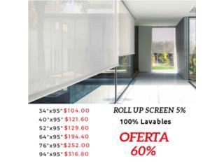 Roll Up Screen 5%, Readymade-Shades Puerto Rico