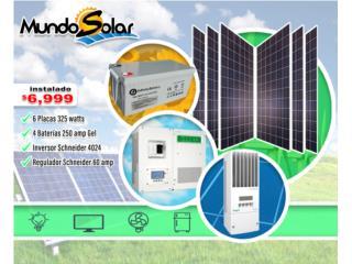 Sistema schneider instalado $6,999 , Mundo Solar Puerto Rico