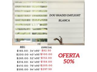 Duo Shade Daylight Blanca, Readymade-Shades Puerto Rico