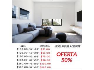Roll Up Blackout Blanca , Readymade-Shades Puerto Rico