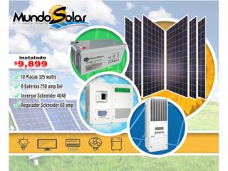 Sistema schneider instalado $9,899 , Mundo Solar Puerto Rico