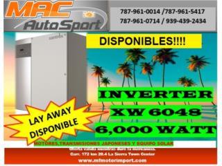 INVERSOR SCHNEIDER XW 6048 6,000 WATT, Mf motor import Puerto Rico