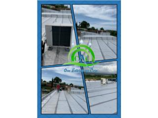 Sellados de techo con membranas asfalticas , CAL ONE ENTERPRISES 787-925-2222/ 787-635-2505 Puerto Rico