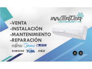 Inverter 12btu 110V Midea, Inverter Technology PR Puerto Rico