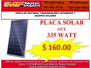 PLACA SOLAR GCL 335 WATT , Mf motor import Puerto Rico