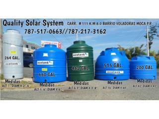 Cisternas desde 118 Gal hasta 2,000 Gal, Quality Solar System 787-517-0663  Puerto Rico