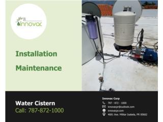 Cisterna de agua comercial/residencial, INNOVAC Puerto Rico