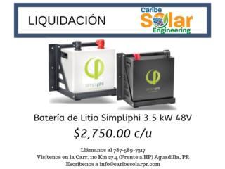 Batería Litio Simpliphi, Caribe Solar Engineering Puerto Rico