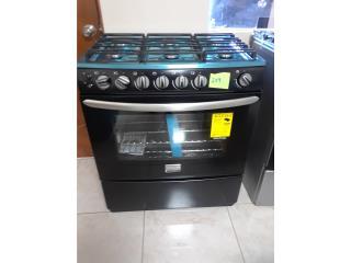 Estufa de gas Negra 6 Hornillas, Electro Appliance Puerto Rico