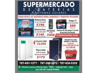Inversor Schneider 6848, Supermercado de Baterias y Sistemas Solares Puerto Rico