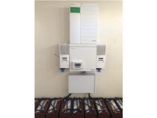 Sistema medicion neta Schneider con baterias , Mundo Solar Puerto Rico