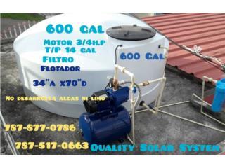 CISTERNAS DE AGUA INSTALADAS 600 Gl, Quality Solar System 787-517-0663 Puerto Rico