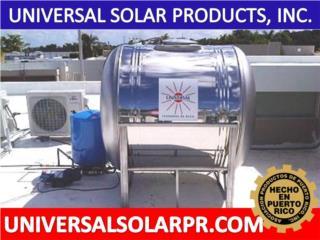 600 GALONES / 100% SIN CARCINOGENOS, UNIVERSAL SOLAR (787) 635-5575 OFICINA CENTRAL Puerto Rico