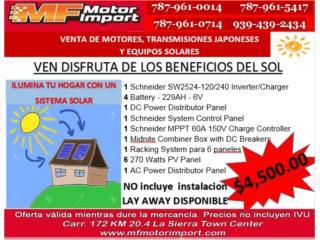 SISTEMA SOLAR PAR TU HOGAR, Mf motor import Puerto Rico
