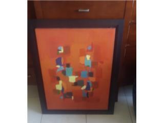 Pintura sobre tela Olga Albizu , APRECIACION DE ARTE Puerto Rico