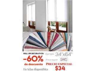 Roll ups decorativos con un 60% de descuento!, READY SHADES Puerto Rico