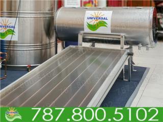 CALENTADOR SOLAR UNIVERSAL AHORRO EN LA LUZ, UNIVERSAL SOLAR - METRO/ISLA         787-800-5102 Puerto Rico