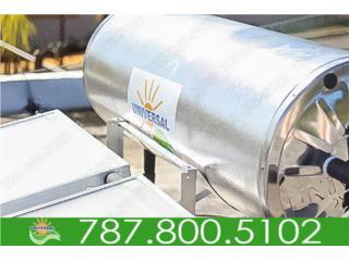 CALENTADORES SOLARES UNIVERSAL FAMILIAR , UNIVERSAL SOLAR - METRO/ISLA         787-800-5102 Puerto Rico