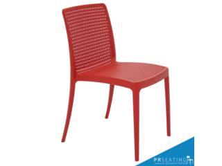 Silla de Resina Isabelle color rojo, PR SEATING Puerto Rico
