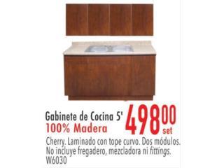 Gabinete de cocina de madera , Ferreteria Ace Berrios Puerto Rico