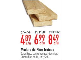 Madera de pino tratada , Ferreteria Ace Berrios Puerto Rico