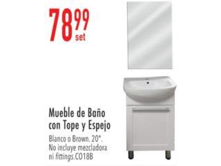 Mueble de baño con tope y espejo , Ferreteria Ace Berrios Puerto Rico