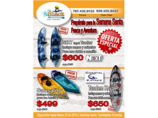 Especial de kayaks dobles., The SUP shack  Puerto Rico