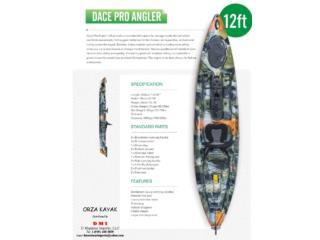 Precio de almacen 12 pies pescador con timon, Orza Kayak Puerto Rico