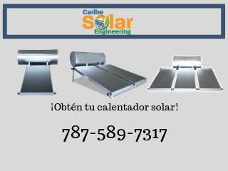 Calentador Solar 1 Colector y Tanque 80gal, Caribe Solar Engineering Puerto Rico