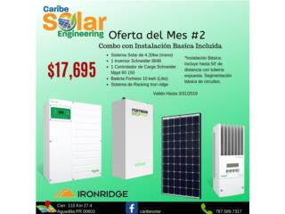 Sistema Solar 4.20kW y Batería Litio 10kW, Caribe Solar Engineering Puerto Rico