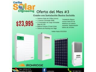 Sistema Solar 6.30kW y Batería Litio 15kW, Caribe Solar Engineering Puerto Rico
