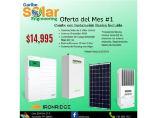 Sistema Solar 3.15kW y Batería Litio 10kW, Caribe Solar Engineering Puerto Rico
