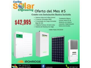 Sistema Solar 9.45kW y Batería de Litio 30kW, Caribe Solar Engineering Puerto Rico