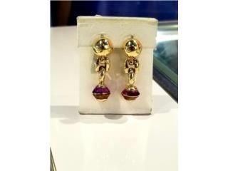Gold-Stone Earrings: 10.7D 14K, La Familia Casa de Empeño y Joyería-Mayagüez 1 Puerto Rico