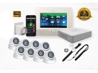 Bayamón Puerto Rico Sistemas Seguridad - Camaras, 8 Cámaras HD Turbo 1080p Epcom Instaladas