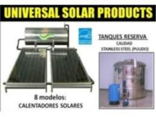 CALENTADOR SOLAR, CISTERNA 450-600 GLS. ST.ST, UNIVERSAL FREE HOT WATER Puerto Rico