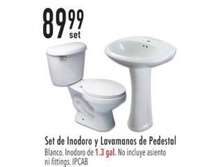 SE DE INODORO Y LAVAMANOS DE PEDESTAL , Ferreteria Ace Berrios Puerto Rico