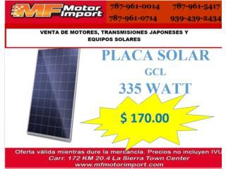 PLACA SOLAR 335 WATT , Mf motor import Puerto Rico