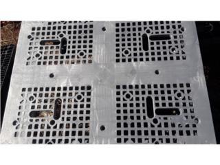 paletas perforadas 42x48 plasticas importadas, NEBRIEL ENVASES DE PUERTO RICO Puerto Rico