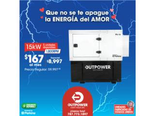 $8997 15KW OFERTA ESPECIAL DE ENAMORADOS., OUTPOWER ENERGY (INDUSTRIAL) Puerto Rico