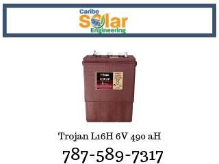 Batería Trojan L16H-Ac 6V 490aH, Caribe Solar Engineering Puerto Rico