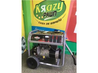 Planta eléctrica Briggs & Stratton $500 OMO, Krazy Pawn Corp Puerto Rico
